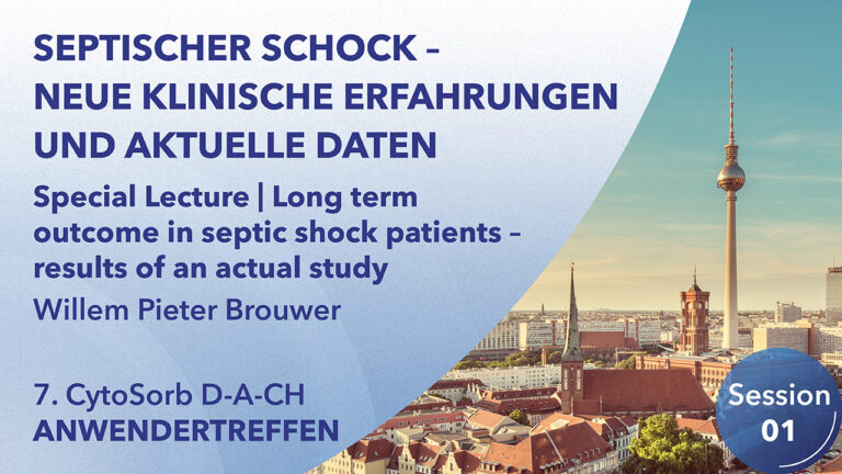 Special Lecture | Long term outcome in septic shock patients – results of an actual study | Willem Pieter Brouwer